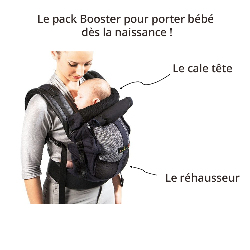 Pack booster Physiocarrier Love Radius, en situation