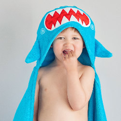 Cape de bain enfant - Requin