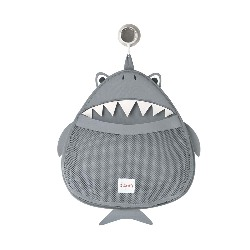 Filet rangement bain, requin gris