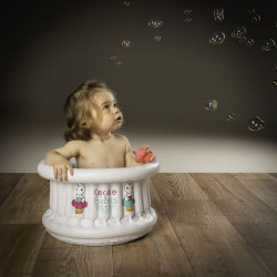 Baignoire gonflable 0-1 an-Cupcake Easy Blanc